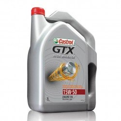 Castrol GTX 10W-50 High Mileage Engine Oil - 5 Quart
